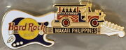 Hard Rock Cafe Makati-philippines 1995 Jeepney On White/blue Guitar Pin 95041