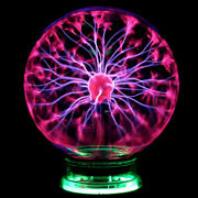 3/4/5/6/8inch Magic Crystal Globe Desktop Lightning Lamp Plasma Ball Sphere 110v