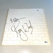 Nick Mason Roger Waters Signed Autographed Wall Pink Floyd Beckett Coa A26238