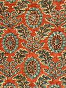 18th Century French Quilt Antique Piquee Boutis Blue Red 1700and039s Vintage Textile