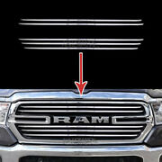 Chrome Grille Cover For Dodge Ram 1500 2019 20 Snap On Grill Overlay 5 Bar Trim