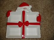 Department 56 Christmas Dish 4 Sections Candy Snacks 10 X 12 Xmas Santa 0 S/h