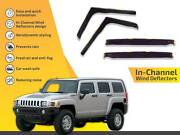 In Channel Wind Deflectors Rain Guards For Hummer H-3 2005-2010 4pc