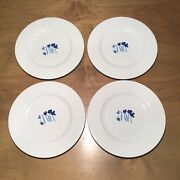 Crate And Barrel Anna's Artistry Bread And Butter Plate Set Of 4 Euc 6 1/2 Inch