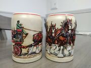 1991 Budweiser Clydesdales Vintage Collectible Beer Steins