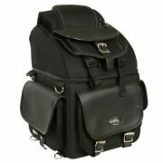 Large 16 Sissy T Bar Tour Bag W/ Conceal Gun And Ammo Pocket For Honda - Hsace