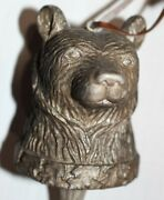 Dark Silver Metal Color Bear Head On Stick 12 -- Detailed Year Round Ornament