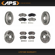 Front And Rear Ceramic Brake Pads And Rotors Kit For Chrysler Dodge Volkswagen