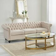 Adetokunbo Tufted Chesterfield 3 Seater Sofa