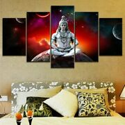 Lord Shiva Starry Universe 5 Piece Hd Art Poster Wall Home Decor Canvas Print