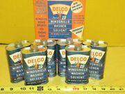 Vintage Delco Special 19 Windshield Washer Solvent 6oz Full Case Oil Can Sign
