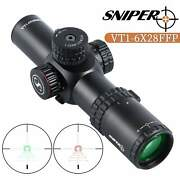 Sniper Vt1-6x28 Ffp First Focal Plane Compact Rifle Scope 35mm Tube Warranty