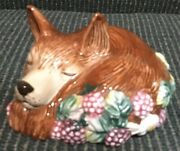Fitz And Floyd Laying Fox Sachet Scent Holder