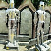 Medieval Armor Full Suit Wearable Knight Combat Steel W/stand Collectible Larp