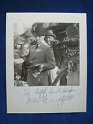 Original Signed And Inscribed Bandw Photo Of Director D.w. Griffith On A Film Set