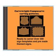 New Cd Over 300 Sears Craftsman Compucarve Carvewright Sign Template Patterns