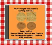 Cd With Over 60 Sears Craftsman Compucarve Carvewright Clock Projects And Patterns