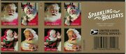 Sparkling Holidays Christmas Santa Five Books Of 20 Forever Stamps 100 Stamps