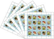 Coral Reefs 5 Sheets Of 20 Forever Postcard Stamps 100 Stamps Scott 5366