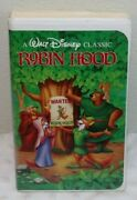 Walt Disney Classics Robin Hood Black Diamond Rare Vhs 1991 - Vhs 1189 Tested
