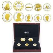 2018 Canada Legacy Of Dime .999 Fine Silver Gold-gilt 5-coin Set Special Edition