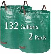 2 Pack 132 Gallons Garden Bag Lawn And Leaf Bags Reusable Yard With Dual Handles