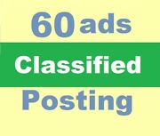Post Your Ads On 60 Classified Sites Manually Website Local Seo High Traffic