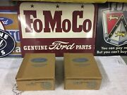 1955 Ford Nos Signal Light Lenses 2 Nib First Time Opened B5a-13208-b