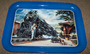 Steam Engine Locomotive Picture Tray Pedal Car Train Depot Beagle Lionel Look