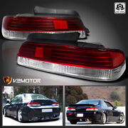 For 1997-2001 Honda Prelude Red/clear Tail Lights Brake Lamps Left+right 00 01