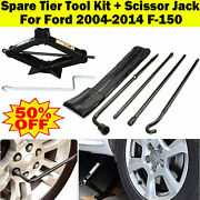 Spare Tire Lug Wrench Extension Tool Set + 2ton Scissor Jack For Ford F150 04-14