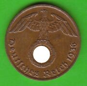 1 Reichspfennig 1936 J With Hk Better Than Xf Very Nice Rarely Nswleipzig