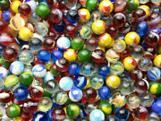 Glass Pee Wee 12mm Marbles Set Of 50 Reds Cat Eyes From Bulk Assorted Lot