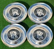 Factory Rolls Royce Cullinan Center Caps Set Of 4 Genuine Oem Wheel Chrome Bezel