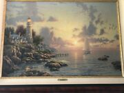 Thomas Kinkade Sea Of Tranquility Accent Print On Canvas In Wood Frame