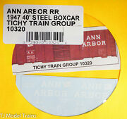 Tichy Train Group 10320 Ann Arbor Rr 1947 40and039 Steel Boxcar Decal Water Slide