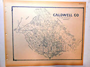 Old Caldwell County Texas Land Office Owner Map 1896 Lockhart Luling Martindale