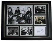 Pete Best Signed Autograph 16x12 Framed Photo Display Beatles Music Coa