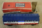 Lionel Train Boxcar 6464-275 State Of Maine Bangor Aroostook And Box
