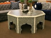 Moroccan/syrian Coffee Table Cocktail Table With Bone Inlay. Custom And Unique