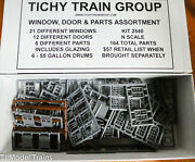 Tichy Train Group N Scale 2540 Window, Door And Part Assortment 164 Pcs Plastic