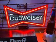 Budweiser Vintage Bow Tie Large Neon Sign