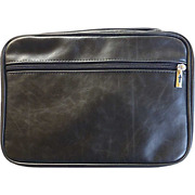 Bible Cover - Distressed Leather Look-extra Large-black