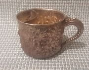 Antique Gorham Sterling Silver Repousse Shaving Mustache Cup With Elephant Trunk
