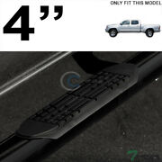 Topline For 2005-2020 Toyota Tacoma Double Cab 4 Oval Side Step Nerf Bars - Blk