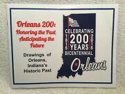 Vtg Book Celebrating Orleans, Indiana's Bicentennial 1815-2015 Historic Drawings