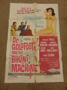 Dr. Goldfoot And The Bikini Machine 1965 Vincent Price 27x41 Poster N8027