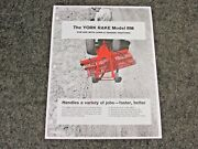 Vintage York Rake Rm Spec Sheet For Lawn And Garden Tractors