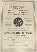 1910s Bliss Catalogue French France Machine Press Company Factory Presses Stamp