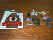 Rare Lot Of Indian Motorcycle Hat And Vest Pins Pin And Old Decal